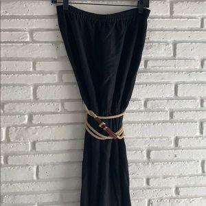 Michael Kors Black Strapless Maxi Dress   Size M